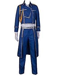 Inspiré par Alchimiste d'acier Roy Mustang Manga Costumes de Cosplay Costumes Cosplay Couleur Pleine Manteau Pantalon Echarpe Pour