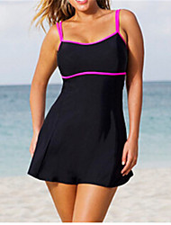 Ladies' Plus Size Straped Tankini Solid Solid