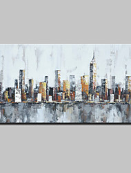 Large Hand-Painted Knife Oil Painting On Canvas Modern Abstract City Wall Art Pictures For Home Decoration Ready To Hang