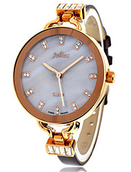 Women's Fashion Watch Japanese Quartz Water Resistant / Water Proof Leather Band Black White Brown Gold Purple
