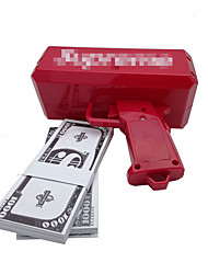 Money Gun, Make It Rain! 9V Battery, Play Money, Red Color