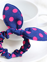 Women's Rabbit Ears Double Color Cloth Korea Headdress Flower Hair Tie Girl Hair Jewelry Gift