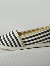 Для женщин Мокасины и Свитер Удобная обувь Светодиодные подошвы Ткань Весна/осень Повседневные Для прогулокУдобная обувь Светодиодные