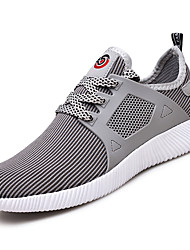Men's Athletic Shoes PU Spring Summer Low Heel Black Gray Ruby Under 1in