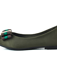 Women's Loafers & Slip-Ons Light Soles Fabric Spring/Fall Casual Low Heel Green Black Flat