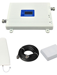 DCS 1800mhz CDMA 850mhz 800mhz Cell Phone Dual Band Signal Booster Amplifier with Log Periodic Antenna / Panel Antenna / Cable / LCD Display / White