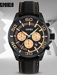 SKMEI Men's Sport Watch Dress Watch Fashion Watch Japanese Quartz Calendar Water Resistant / Water Proof Stopwatch Rubber Band Cool Casual