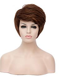 Mujer Pelucas sintéticas Sin Tapa Corto Rizado Naranja Peluca natural Las pelucas del traje