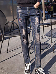 Spring new embroidery cotton stretch jeans pants collapse female harem pants loose trousers fashion wild tide