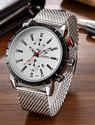SANEESI Men's Fashion Watch Wristwatch Luxucy Elgant Unique Creative Cool Watch Quartz Calendar Business Classic Alloy Band Watches