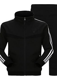 Men's Long Sleeve Running Tracksuit Thermal / Warm Fall/Autumn Sports Wear Running Polyester