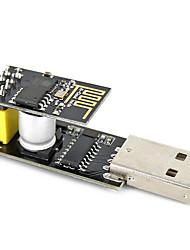 Usb a esp-01 adatper negro esp-01 esp8266 módulo inalámbrico wi-fi