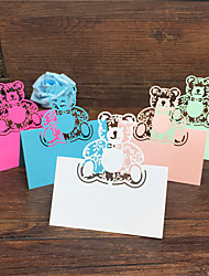 40pcs Bear Laser Cut Baby Shower Party Table Name Place Cards Birthday Party Decoration Wedding Favors Party Supplies