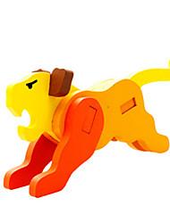 Puzzles Puzzles 3D Blocs de Construction Jouets DIY  Tiger Bois Maquette & Jeu de Construction