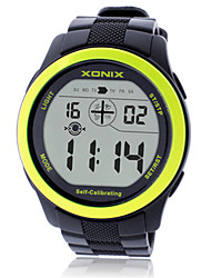 Men's Sport Watch Smart Watch Digital Water Resistant / Water Proof Noctilucent Rubber Band Black Blue Orange