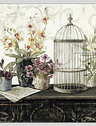 Pintada a mano Naturaleza muertaAbstracto Un Panel Lienzos Pintura al óleo pintada a colgar For Decoración hogareña