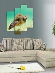 Художественная печать Животное Modern,4 панели Горизонтальная Печать Искусство Декор стены For Украшение дома