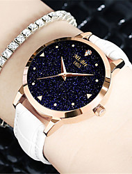 Women's Fashion Watch Quartz Water Resistant / Water Proof Leather Band Black White Blue Red Purple
