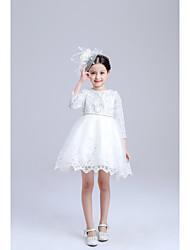 Robe de bal longueur de genou robe de fille de fleur