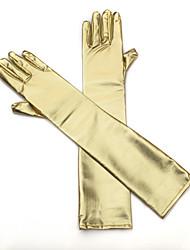 До плеча С открытыми подушечками пальцев Перчатка Искусственная кожа Свадебные перчатки Вечерние перчатки Все сезоны Стразы