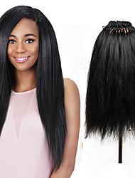 26 прядей / пакет синтетических яки прямая пряжка волос вязание крючком pre петля yaki часть волос синтетическая оплетка волос расширение 18inch