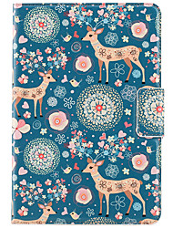 For Apple iPad Mini 3/2/1 Case Cover with Stand Auto Sleep / Wake Flip Magnetic Pattern Full Body Case Animal Cartoon Flower Hard PU Leather