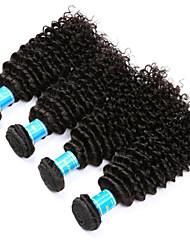 Vinsteen Indian Kinky Curly Hair Weave 4 Bundles 400g 100% Unprocessed Human Hair Extensions Natural Human Hair Weave