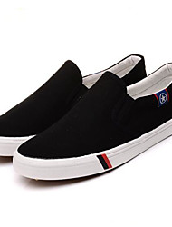 Men's Loafers & Slip-Ons Comfort Canvas Spring Casual Blue Navy Blue Black White Flat