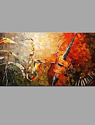 Hand-Painted Abstract Musical Instruments piano Sax pictures Oil Painting Home Decoration Stretched Frame Ready To Hang