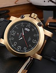 Homens Relógio Esportivo Relógio de Moda Relógio de Pulso Único Criativo relógio Relógio Casual Quartzo Calendário Mostrador Grande PU
