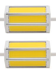 7W R7S COB SMD 118mm LED Energy Saving Light Instead of Floodlight Lamp AC85-265V 110V-240V (2 Pieces)