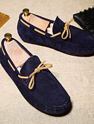Men's Boat Shoes Slingback PU Spring Casual Slingback Chunky Heel Black Dark Blue Gray 1in-1 3/4in