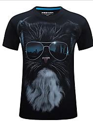 5  colors S-7XL Hot Sale Men's Plus Size Casual/Daily Simple Summer 3D T-shirt Solid Print Round Neck Short Sleeve Cotton Medium