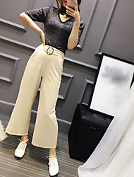 Для женщин Весна Как у футболки Брюки Костюмы V-образный вырез 1/2 Length Sleeve