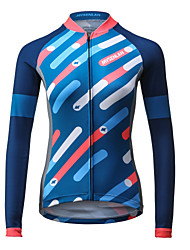 Mysenlan Cycling Jersey Women's Long Sleeve Bike Jersey Quick Dry Breathable Polyester Fashion Spring Summer Fall/Autumn