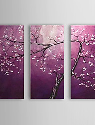 Hand Painted Modern Abstract Tree Flowers Oil Painting On Canvas Wall Art Picture For Home Decoration Ready To Hang
