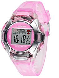 Женские Модные часы электронные часы Цифровой Pезина Группа Черный Синий Красный Зеленый Розовый Фиолетовый