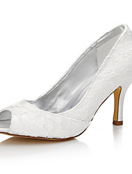Women's Wedding Shoes Club Shoes Comfort Dyeable Shoes Silk Spring Fall Wedding Outdoor Office & Career Party & Evening DressStiletto