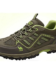 Camel Men's Flat Lace-up Athletic Comfort Fabric Outdoor Hiking Shoes Color Royal Blue/Army Green/Dark Grey