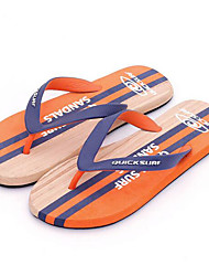 Homme Chaussons & Tongs Confort PVC Printemps Décontracté Confort Orange Plat