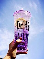 Summer Broken Ice Straw Plastic Water Cup