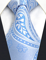 CXL9 Extra Long New For Mens Necktie Blue Paisley 100% Silk Classic Handmade Fashion Business For Men