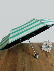 Korean Fully Automatic Female Folding Sun And Rain Dual Sun Umbrella Sun Protection Against Ultraviolet Rays