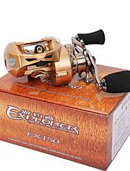 Carretes de lanzamiento 7.0:1 9 Rodamientos de bolas Zurdo Pesca de baitcasting Pesca de Cebo-EX150-L