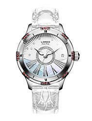 Women's Fashion Watch Quartz Japanese Quartz Leather Band White