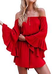 Для женщин Гофрирован Для клуба Комбинезоны Свободные Мода Лето Осень