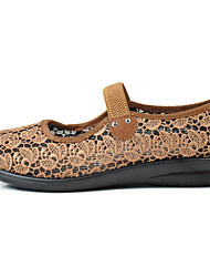 Для женщин Мокасины и Свитер Удобная обувь Светодиодные подошвы Тюль Демисезонный Лето Повседневные Для прогулокУдобная обувь