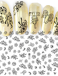 Large Size Fashion Water Transfer Printing Nail Stickers