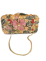 Women Rhinestone Flower Event/Party/Evening Clutches Bag Multi Color