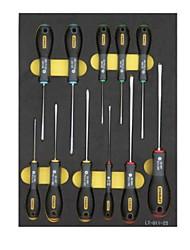 Stanley 11 peças definidas três pontos de chave de fenda chaveiro chaveiro / 1 conjunto